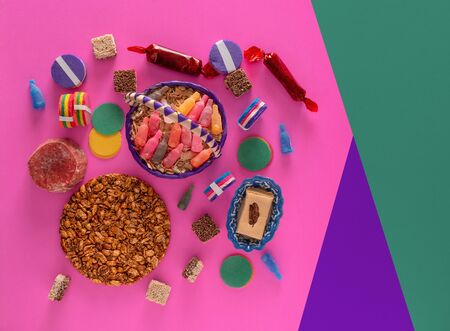 Typical Mexican Candy, Variety of Candies from Mexico.