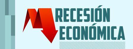 Recesion Economica, Economic Recession Spanish text vector design. Ilustrace