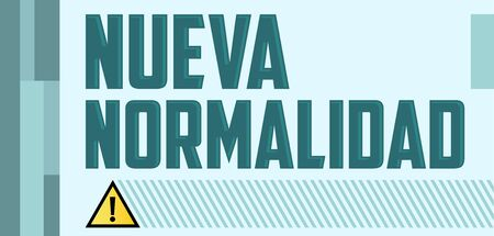 Nueva Normalidad, New Normal Spanish text vector design. Illustration