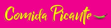 Comida Picante, Spicy Food Vector design. 向量圖像
