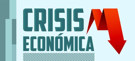 Crisis Economica, Economic Crisis Spanish text vector design. Stock fotó - 149466307