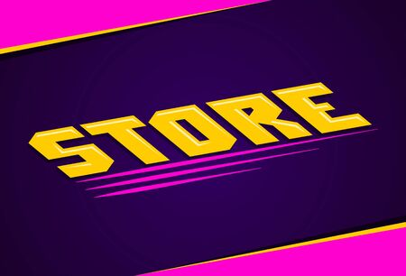 Store Shop Sign vector illustration in perspective.