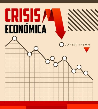 Crisis Economica, Economic Crisis Spanish text vector design.