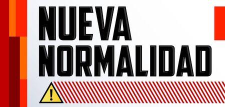 Nueva Normalidad, New Normal Spanish text, vector design. Vektoros illusztráció