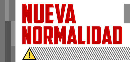 Nueva Normalidad, New Normal Spanish text, vector design. 일러스트