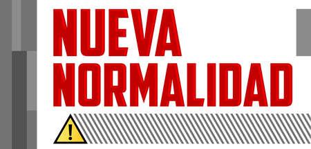 Nueva Normalidad, New Normal Spanish text, vector design. Illustration