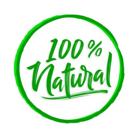 100% Natural rounded vector emblem design.