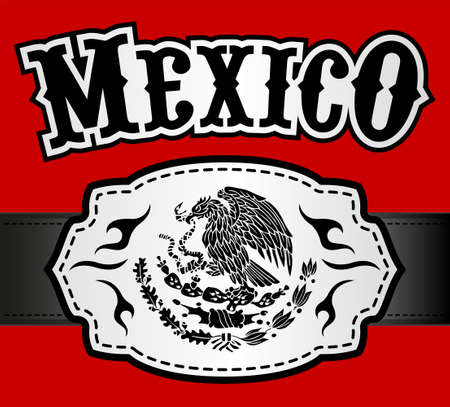 Mexico emblem Western style, Mexican theme vector design.