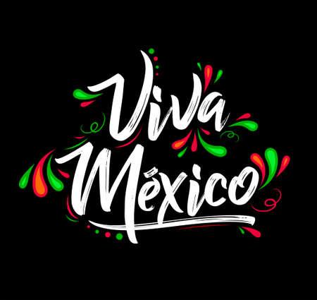 Viva Mexico, Traditional Mexican Phrase Celebration illustration. 일러스트