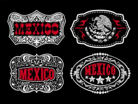 Mexico Label Emblem vector master collection design.