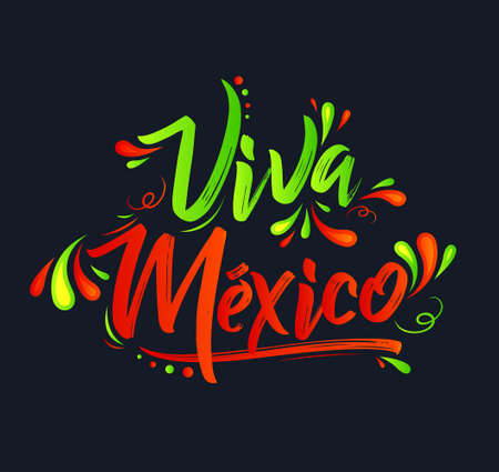 Viva Mexico Translation: Long Live Mexico, Traditional Mexican Celebration.