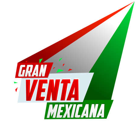 Gran Venta Mexicana, Mexican Big Sale spanish text, vector modern promotional banner.