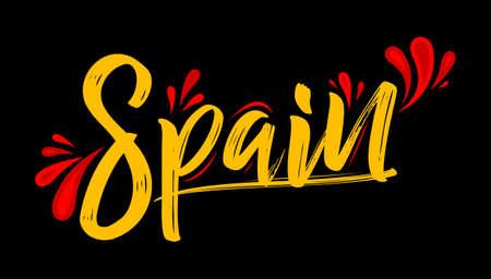 Spain Spanish Patriotic Banner design flag colors vector illustration. 矢量图像