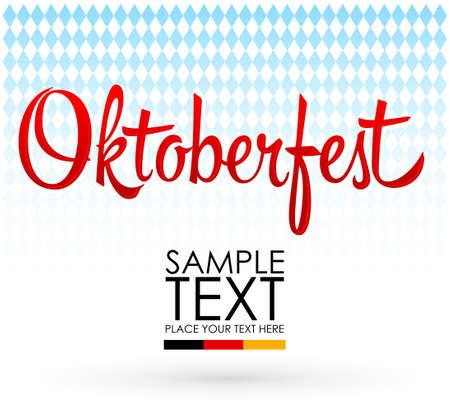 Oktoberfest Celebration Design, vector lettering illustration traditional texture. Ilustração