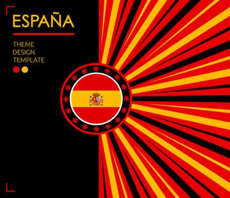 Espana Spain Translation Nation Patriotic theme, vector illustration, Spanish Flag colors.