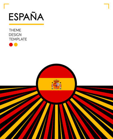 Espana Spain Translation Nation Patriotic theme, vector illustration, Spanish Flag colors.