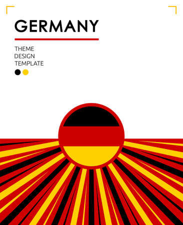 Germany Nation Patriotic theme vector illustration, German Flag colors.