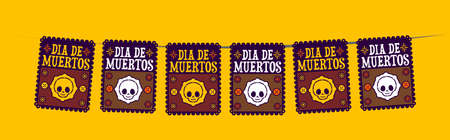 Day of the Dead holiday vector, street decoration, master collection.