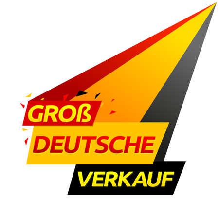 Groß Deutsche Verkauf, German big sale translation, vector modern colorful banner.