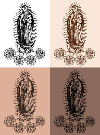 Virgin of Guadalupe, Mexican Virgen de Guadalupe Tattoo style.