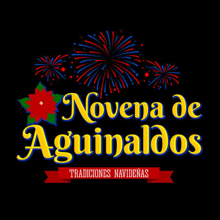 Novena de aguinaldos, Ninth of Bonuses Spanish text, Christmas tradition in Colombia.