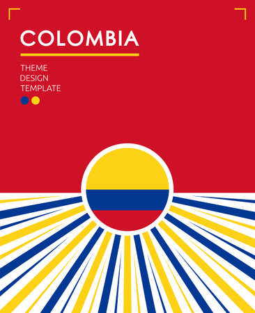 Colombia Nation Patriotic theme, vector illustration, Colombian Flag colors.