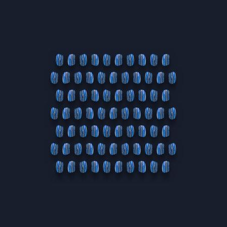 Blue Gemstones Pattern on background, color Stones composition. Zdjęcie Seryjne