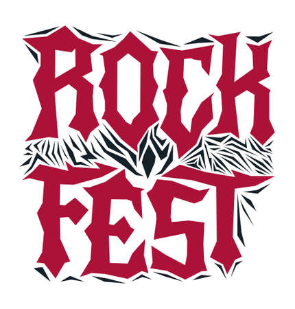 Hardcore Rock Fest Post design template Metal Festival post.