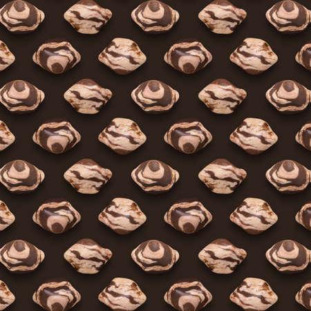 Brown Gemstones Pattern on background, color Stones composition.