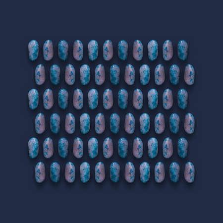 Blue Gemstones Pattern on background, color Stones photography composition. Zdjęcie Seryjne