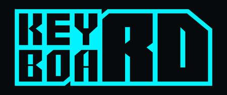 Keyboard vector Monogram Emblem Design. Ilustracja