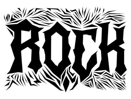 Rock Hardcore Post design template Metal style elements. Ilustracja