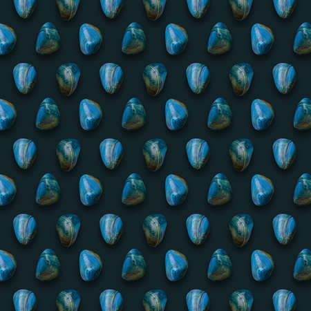 Blue Gemstones Pattern on background ready for your design.