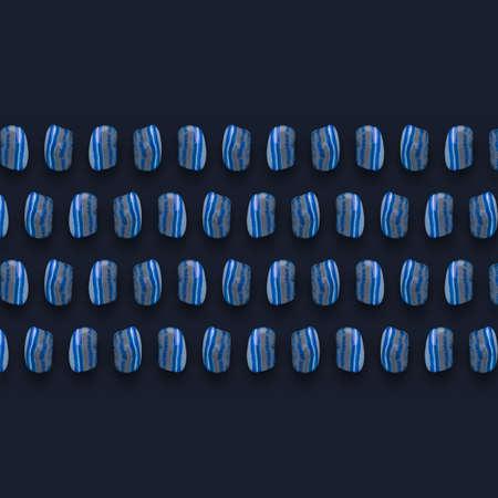 Blue Mineral Gemstones photographic composition. Zdjęcie Seryjne