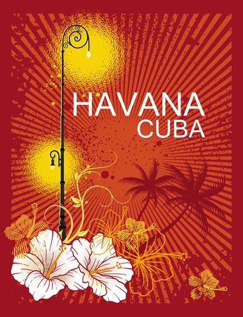 havana Cuba Illustration