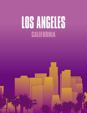 Los Angeles California cityscape illustration. Ilustração