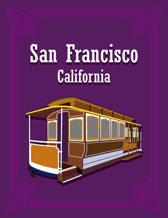 san francisco trolley Illusztráció