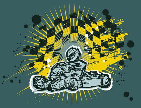 karting Vector Illustratie
