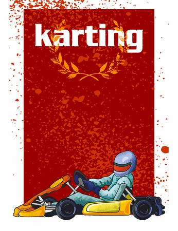 Colorful illustration of a kart.