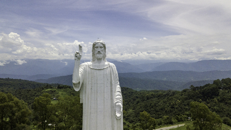 Yerba Buena / Misiones / Argentina - 12.29.18: Christ the Redeemer of the sculptor Juan Carlos Laman. Tucumán. Argentina.