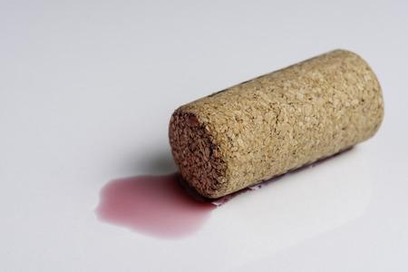 Wine cork isolated on the white. Фото со стока
