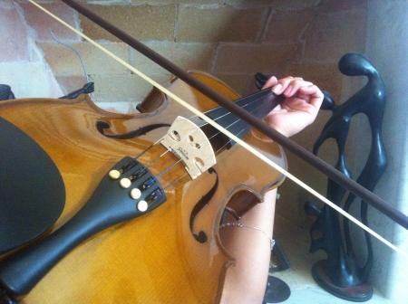 Praticare violino Archivio Fotografico - 21001004