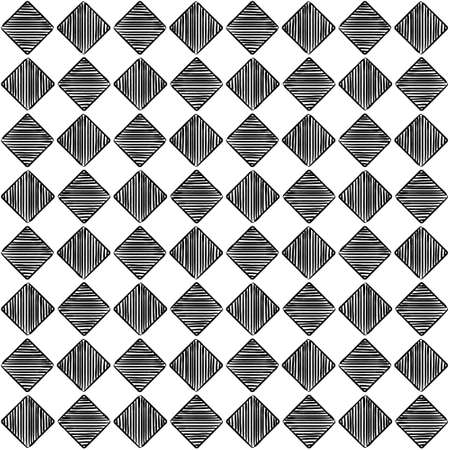 Seamless chess pattern. Vector chess background. Chess cells. Hand drawn checkerboard