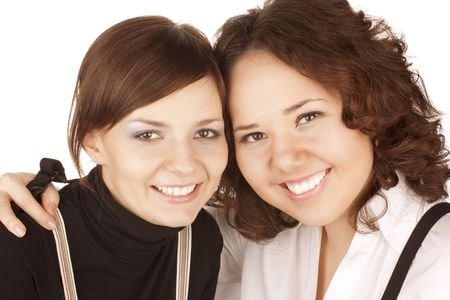 Two girl friends together smiling Stock Photo - 6632002