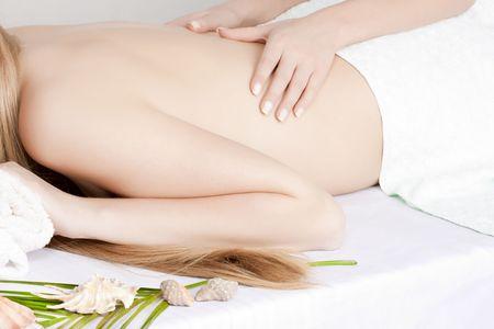 Beautiful woman on massage table Stock Photo - 6768685