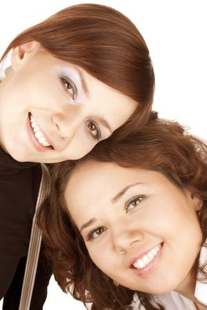 Two girl friends together smiling Stock Photo - 6768651
