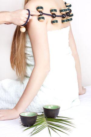 beautiful girl on massage procedures photo