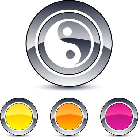 yinyang: yinyang glossy round web buttons.