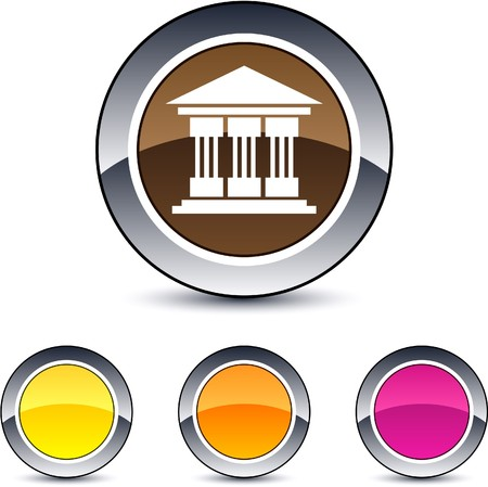Exchange glossy round web buttons.  Vector