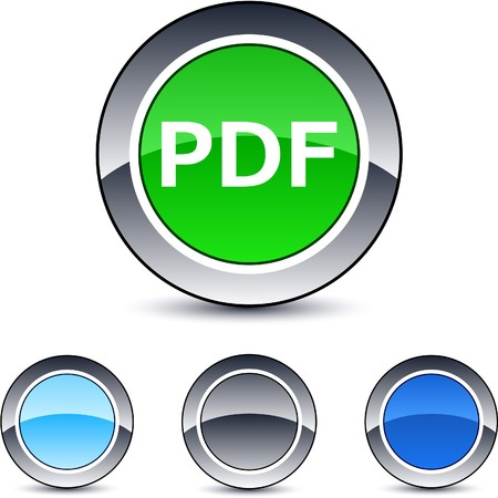PDF glossy round web buttons.  Vector